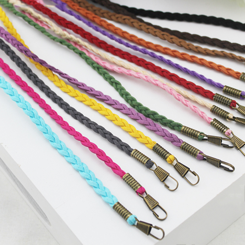 120cm Woven Bag Strap Handmade Shoulder Strap For Women Bag Replacement Accessories Handbag Handle Bag Straps Bands