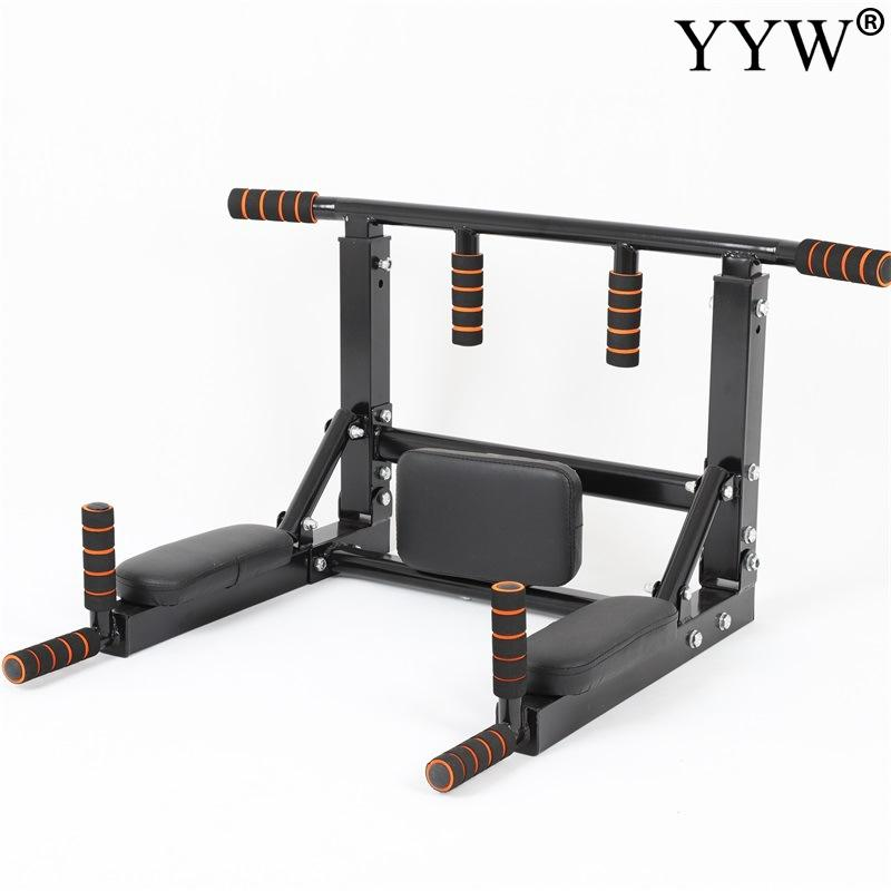 Top SaleWall Mounted Pull Up Bar Heavy Duty Wall Horizontal Bar 3 in 1 For Power Training Muscle Strength Workout Fitness Equipment Gym