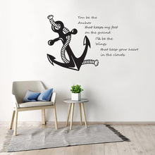 See Inspiration Quote Wall Decal Wall Sticker Home Decor Sea Style Wall Poster Anchor Vinyl Mural