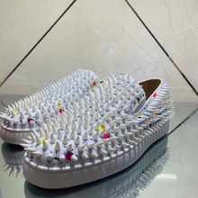 Lazy-Shoes Loafers Red-Bottom Flats Spikes Walking-Sneakers Snake White Sport Casual