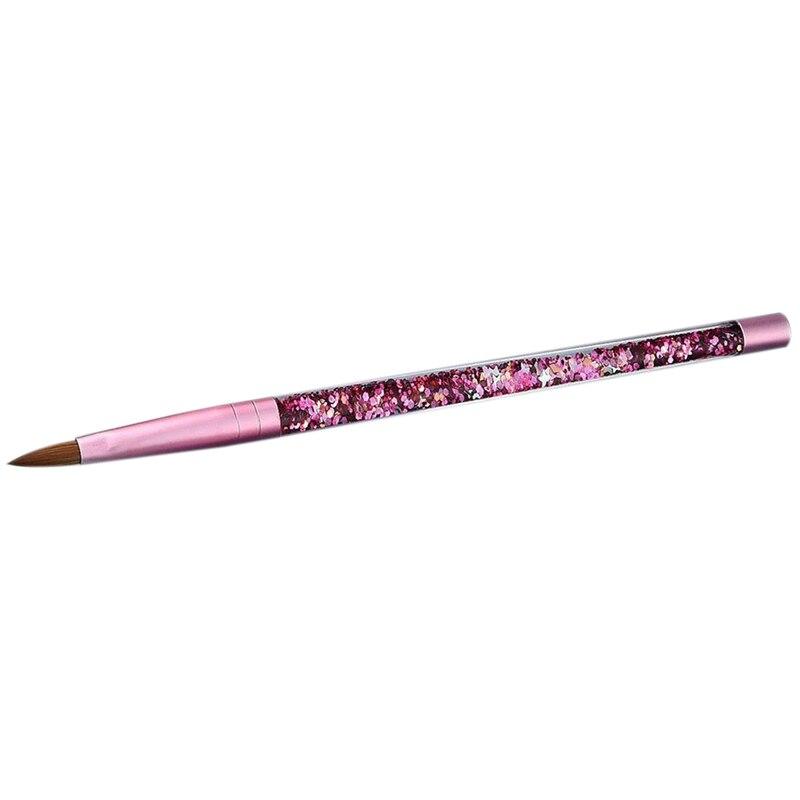 2 pces cor-de-rosa beleza kolinsky sable acrílico
