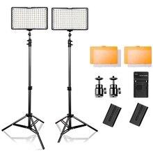 Travor luz LED para vídeo de TL 160, 5600K, regulable, para cámara, iluminación de fotografía, Panel de alta potencia con trípode
