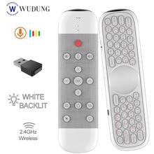Q40 air souris voix télécommande Microphone W2 2.4G sans fil Mini clavier Gyroscope pour Smart Android Tv Box Mini PC VS G30S