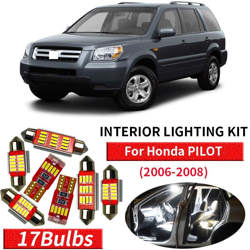 12x For 2006-2008 Honda Pilot LED Bulb Festoon White Car Interior Light Package