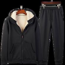 Chándal de lana gruesa para hombre ropa deportiva, conjunto de 2 piezas, chaqueta + Pantalones, 4XL, 5XL, novedad de invierno de 2019