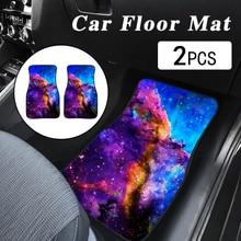 цена на Starry sky Printing Car Floor Mats Pattern Universal Printing Auto Car Floor Mat Set Auto Interior Styling Anti Slip Car Carpet