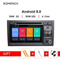 IPS AutoRadio 2Din Android 9.0 Car Multimedia Player For Audi A4 B6 B7 Seat Exeo S4 B7 B6 RS4 B7 GPS Navigation DVD Stereo DSP