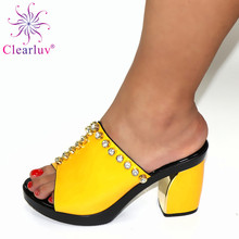 New Arrival Italian Nigerian Party Shoes Without Bag Set Fashion Slipper Wedding