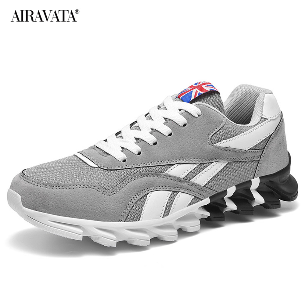 Gray-Couples Sneakers Casual Breathable Comfortable Running Sport Shoes