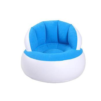 58*53cm Children Inflatable Bathroom Sofa Portable Multifunctional Kids Chair for Sitting Relax Inflatable Sofa Comfortable - Blue