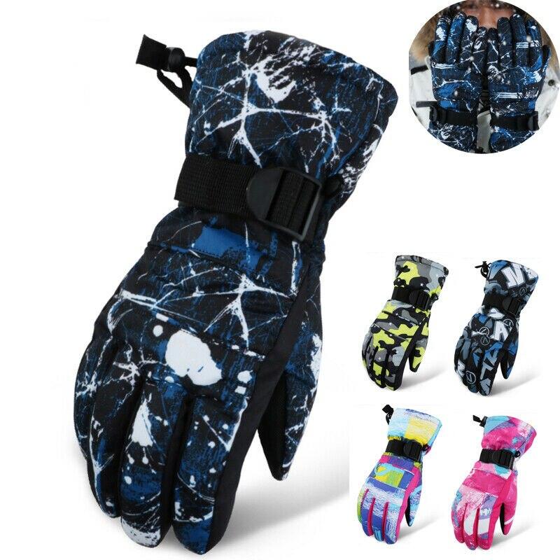 2019 Brand New Fashion Men Women Warm Winter Snow Ski Snowboard Gloves Waterproof Skiing Glove Hot Sale