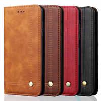 Pour Xiao mi mi 9 étui mi A3 A2 9 Lite à rabat pour Funda Xiao mi mi 9T étui mi 9 SE portefeuille rouge mi Note 7 étui rouge mi K20 rouge mi Note 8 Pro