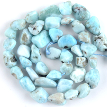 купить Natural Irregular Stone Larimar Loose Beads For Jewelry Making Freeform Spacer Beads Diy Bracelet Necklace Accessories 15'' онлайн