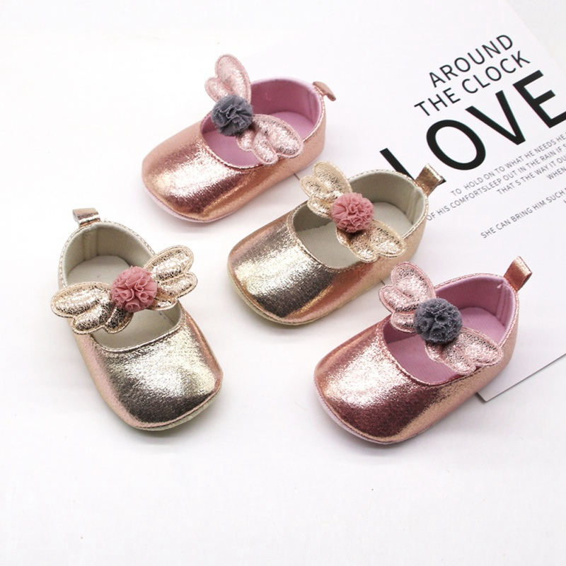 Newborn Baby Girls Shoes PU Leather First Walkers Baby Girl Shoes Fashion Flowers Princess Baby Girl Crib Shoes 0-18M