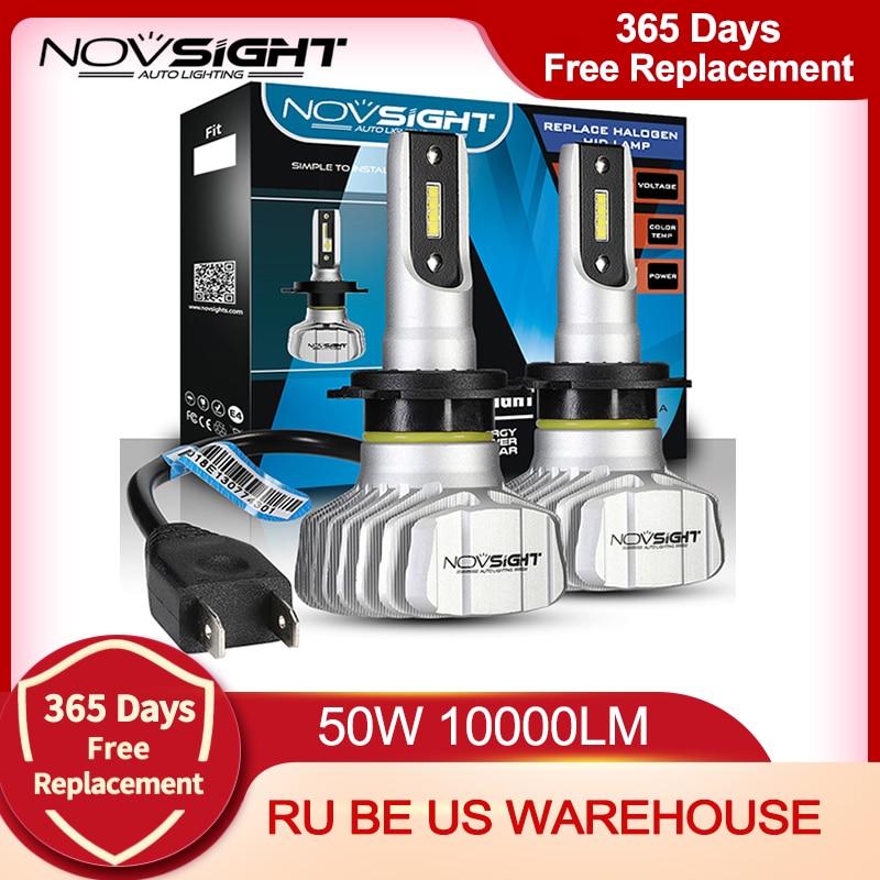 NOVSIGHT Car Headlight H4 Hi/Lo Beam LED H7 H1 H3 H8 H9 H11 H13 9005 9006 9007 50W 10000lm 6500K Auto Headlamp Fog Light Bulbs