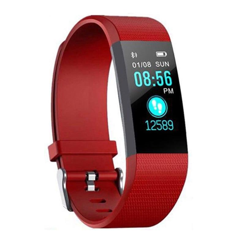 Sport Health Waterproof Fitness Smart Watch Activity Tracker Wrist Band 115 Plus Smart Band Sport Health Waterproof Pedometers 1