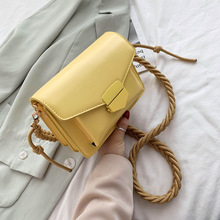 2020 Solid Color Pu Leather Rope Shoulder Messenger Bag Small Flap Bags For Women Casual Crossbody bags lady handbags totes bag