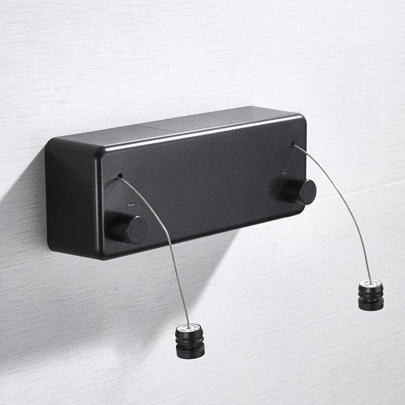 Tendedero Invisible telescópico de acero inoxidable para interior/exterior, soporte para secadora de ropa retráctil, línea de ropa para balcón