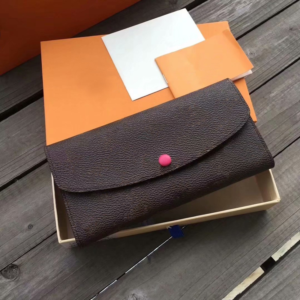 European And American Fashion Women's Genuine Leather Envelope Wallet High Quality Portable Wallet Clutch With Box Free Shipping