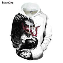 off white Hot sale new arrival popular movie venom 3D velvet hoodies for men women hoodies hip hop pullover pocket jackets(China)