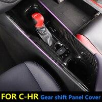 Carbon Fiber Drawing Car Interior Central Console Gear Shift Panel ABS Trim 1pcs For Toyota CHR C HR LHD & RHD 2016 2018