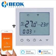 BEOK 220V WIFI inteligente termostato de agua eléctrica/calefacción de piso caliente suelo de casa inteligente Control con Google Alexa