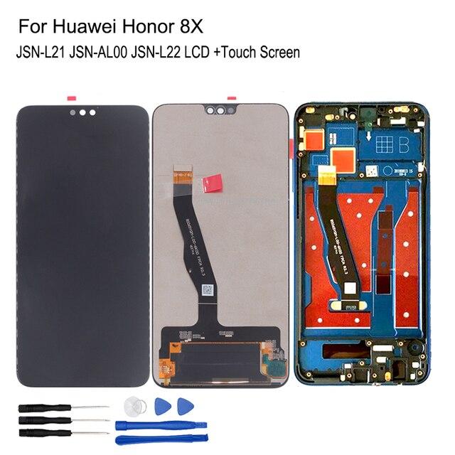 لهواوي الشرف 8X LCD عرض JSN L21 JSN AL00 JSN L22 اللمس شاشة محول الأرقام إصلاح أجزاء ل الشرف 8X LCD عرض مع الإطار