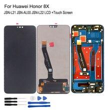 Для Huawei Honor 8X, ЖК дисплей, телефон, цифровой преобразователь сенсорного экрана, запасные части для Honor 8X, ЖК дисплей с рамкой