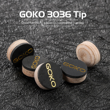 GOKO Cue Tips Model 3036 S/M/H Snooker Cue Pool Cue Billiard Tip 10/11.5/13mm Tip Pig Skin 6-7 Layers Multi-layered Accessories multi function billiard accessories pool cue tips repair tool snooker burnisher shaper tapper high practicability easy to carry