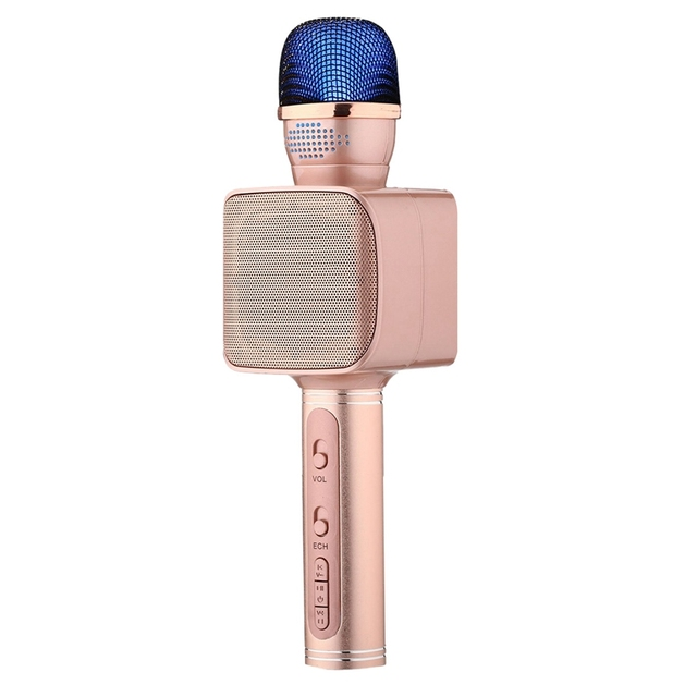 SU YOSD Ys 68 karaoke microfone com luz noturna na mão
