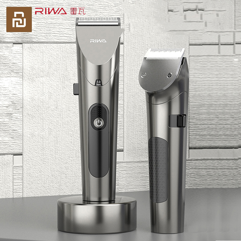 Cutter-Head Hair-Clipper Electric RE-6305 Xiaomi Riwa Strong-Power with Led-Screen Washable