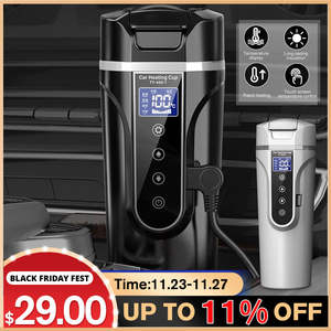 Car-Heating-Cup Temperature-Kettle Coffee-Tea Electric-Water-Cup Lcd-Display Stainless-Steel