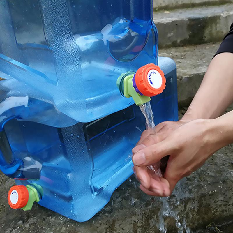 5L Outdoor Water Bucket Portable Tank Container with Faucet for Camping #K
