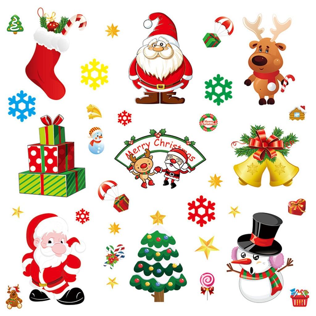 Decalplanet Pegatinas Ventana Navidad Mu/ñeco de Nieve Pegatinas de Pared Copo de Nieve Stickers Santa Claus Vinilos Ventana Pegatinas Puerta Navidad Pegatinas Escaparate Decorativos Adhesivos Pared