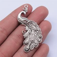 WYSIWYG 4 pezzi 54x21mm ciondolo Charms pavone Color argento antico per gioielli che fanno risultati gioielli fai da te cheap CN (Origine) In Lega di zinco Other Metallo Annata