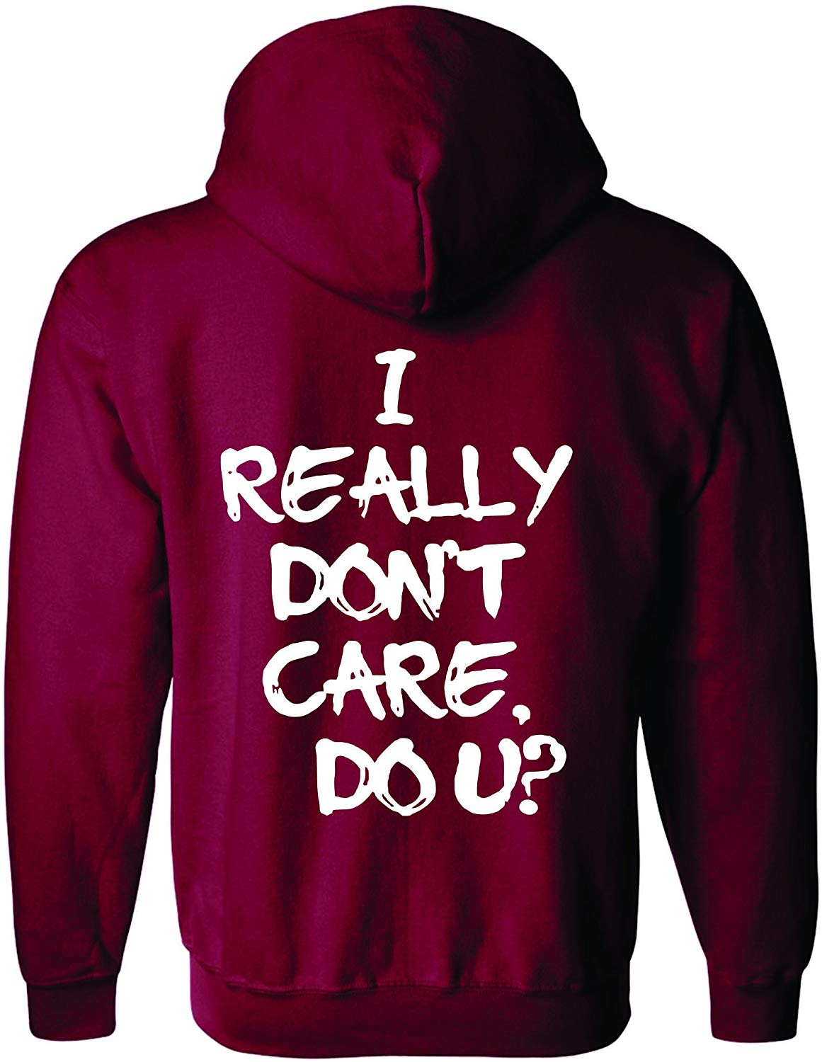 Adult Zipper Hoodie I Really Dont Care Do U Jacket Trend <font><b>Viral</b></font> Outfit Men Women Hoodie Sweatshirt image