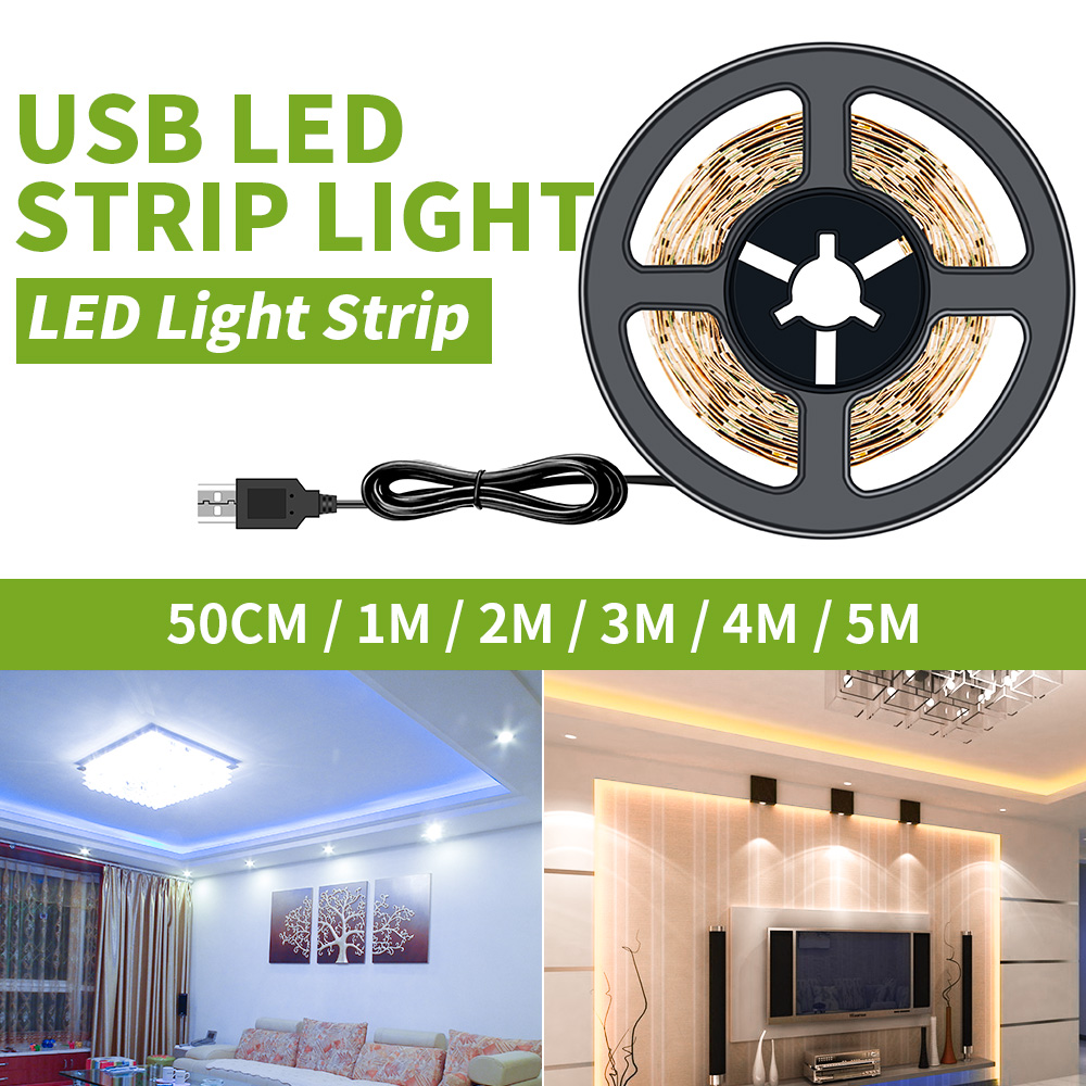 Led Strip 5V Indoor Lighting 2835 SMD TV Backlight PC Led Light Strip Rope Light Ambient Lamp 1M 2M 3M 4M 5M светодиодная лента