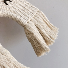 Nordic Hand-woven Macrame Tapestry Cotton Rope Animal Wall Hanging Pendant Decor N7ME