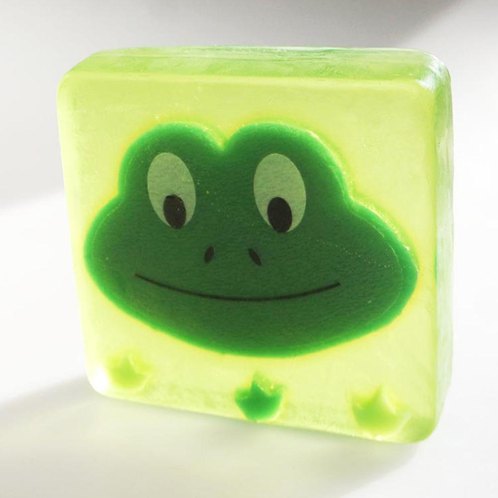 100g Handmade Soap Mild Cartoon Shape Kids Wash Face Soap Cleansing Moisturizing Body Essential Skin Soap Oil E5I2