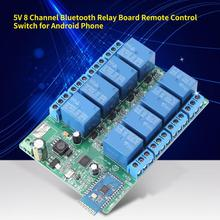 цена на 5V 8 Channel Bluetooth Relay Board Remote Control Switch Wireless Smart Switch Relay Module Compatible for Android