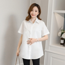 2020 spring and summer new wild maternity short-sleeved shirt fashion large size professional women's clothing maternity clothes