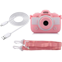 Kids Toys Camera for Girls Gifts Mini Cartoon Shockproof Silicone Case Rechargeable Child C