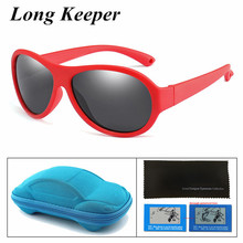 Hot 2019 Fashion Polarized Kids Sunglasses with Case Girls Boys Silicone Goggles Child Childrens Sun Glasses UV400