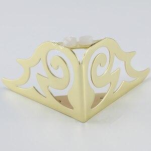 Image 3 - 4pcs 골드 패턴 금속 가구 다리 소파 발 머리핀 다리 머리 핀 다리 가구 보호 발 하드웨어 침대 라이저
