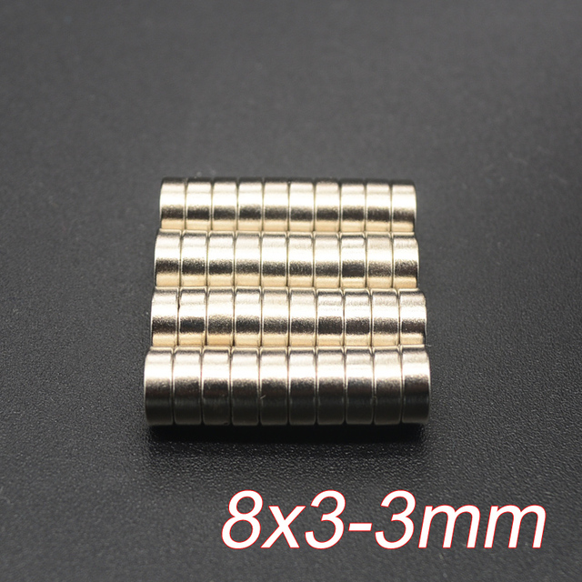 10pcs disc mini 8x3mm with bore 3m