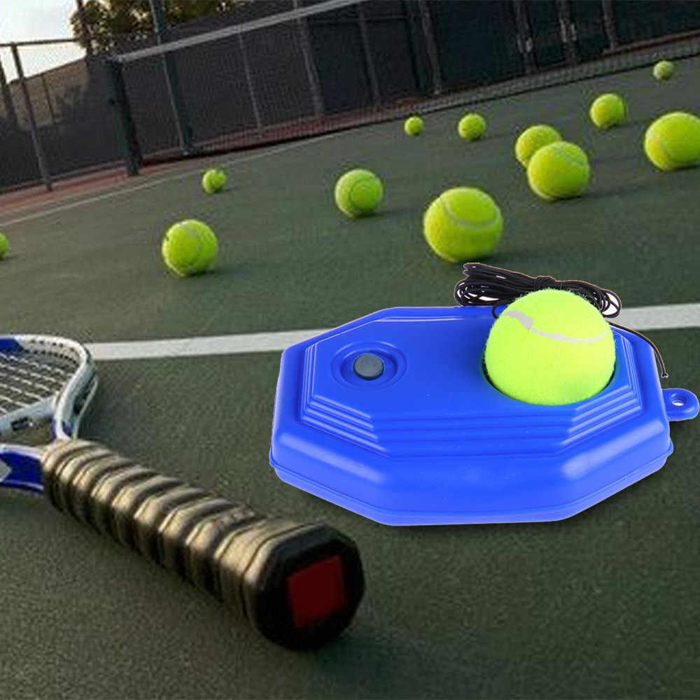 Tenis topu single eğitim uygulama topları arka taban eğitmen araçları ve tenis egzersiz kendi kendine çalışma ribaund topu süpürgelik