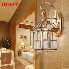 Oufula Современные Настенные светильники латунь бра Открытый