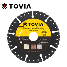 TOVIA 125mm Diamond Circular Saw blade Multi Cutting Universal Disc Multipurpose Angle Grinder Saw Disc Power Tool Accessories z lion 5 125mm diamond cutting disc ceramic tile porcelain marble circular saw blade for angle grinder super thin cutting disc