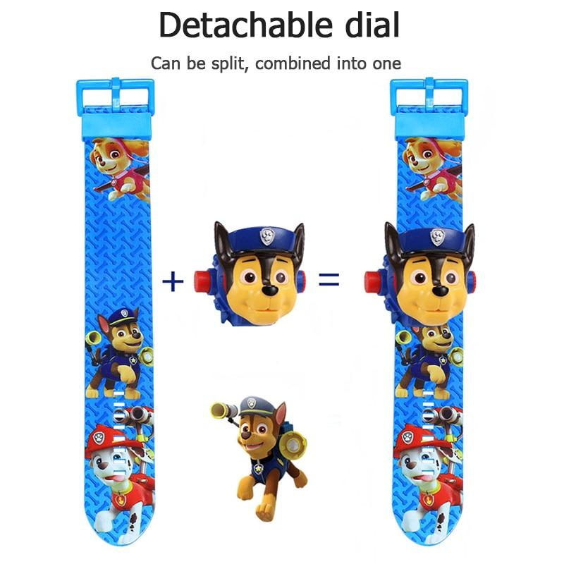 Paw patrol игрушки набор 3D проекционные часы фигурка на день рождения Аниме Фигурка Patrulla Canina игрушка подарок