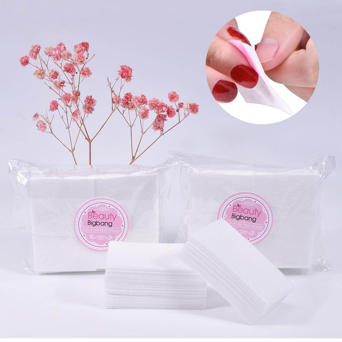 100PCS Nail Cotton Wipe Towel Nail Gel Polish Clean Removal Lint-free Wipes Soak Off Clean Gel Varnish Pad Napkins Wraps Tools